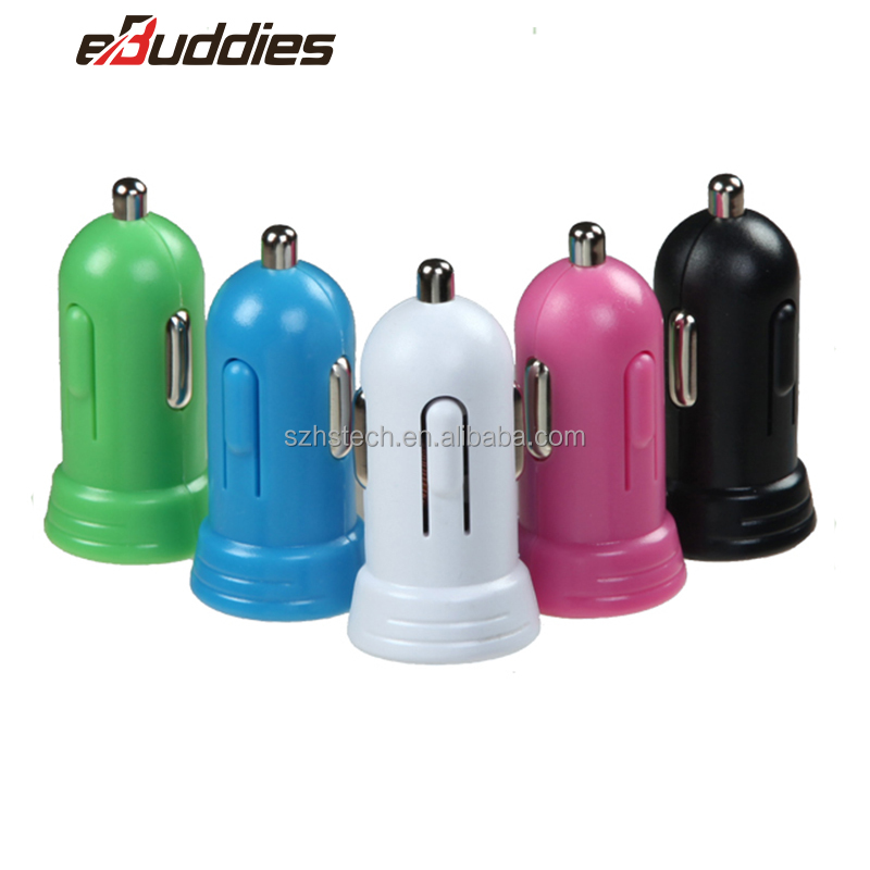 Wholesale Colorful Promotional customized Cheap mini Universal Phone USB Car Charger