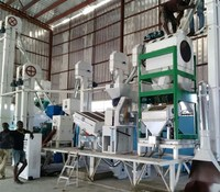 Complete set mini rice milling machine/grain processing equipment