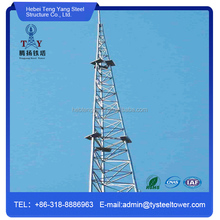 Seamless Steel Tube Galvanized Self Supporting Telecom Tower