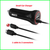 5V 4.8A 2 in1 Car Charger Adapter Usb and Cable cigerrate Travel car charger for mobile phone