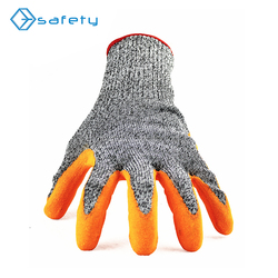 HPPE Nitrile Coated Industrial Work Cut Resistant Gloves