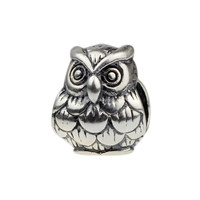 Wholesale 925 Sterling Silver Charm Animal Wise Owl for 3mm Thick European Bracelet