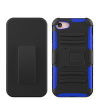 Full Protective Strong TPU PC Shockproof Outdoor Kickstand Armor 3 in 1 Phone Case for iPhone 7