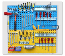 Supermarket Industrial showroom peg display <strong>shelf</strong> hand tool rack wall <strong>shelf</strong>