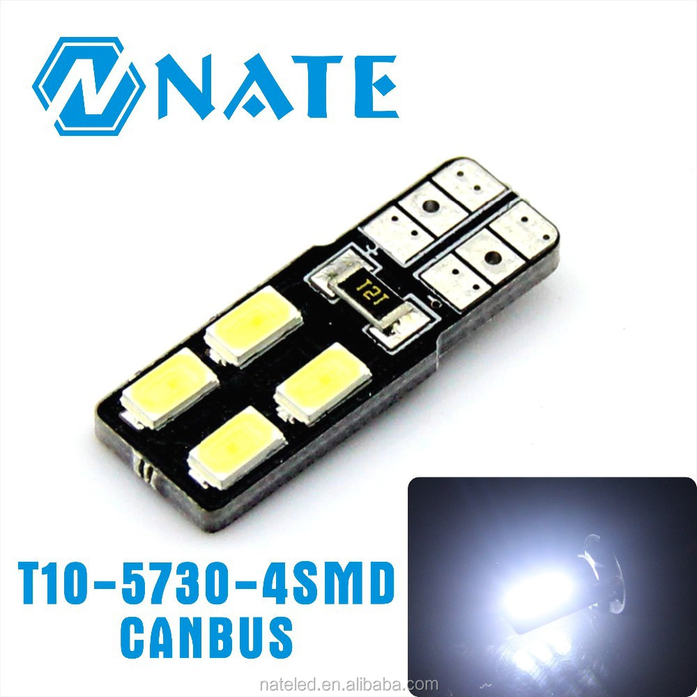 Led Festoon Light Interior Accessories 12V Canbus T10 5730 4Smd Error Free For Car