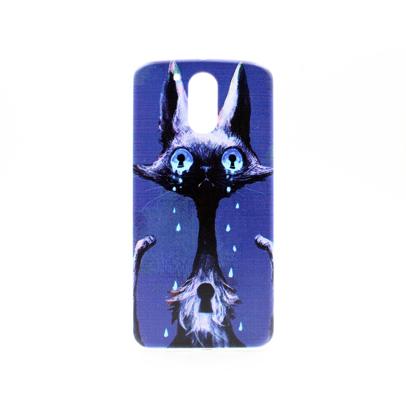 Ghost Style Blue Phone Case For Moto G4