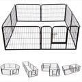 black foldable dog pet puppy metal playpen play pen hutch run enclosure