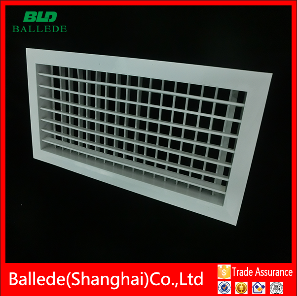 aluminium double deflection air conditioning air inlet grille from shanghai
