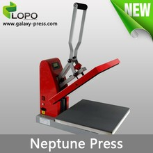 automatic open Neptune T-shirt transfer heat press machine from Lopo