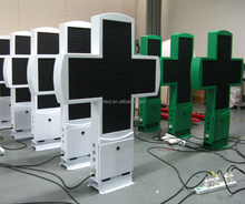 Outdoor led pharmacy cross P25, full color led pharmacy cross display double sides 1200*1200mm