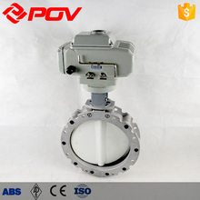 Polymer lp stainless steel Powder butterfly valve