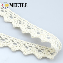 18mm MeeTee High-quality water soluble cotton lace curtains tablecloth sofa cushions dog teeth lace