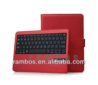 For iPad Air 5 Keyboard Bluetooth with Stand Leather Folio Bluetooth Keyboard Cover Case