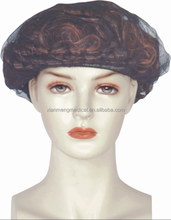 Free sample fast consumable disposable nylon non woven hair net cap