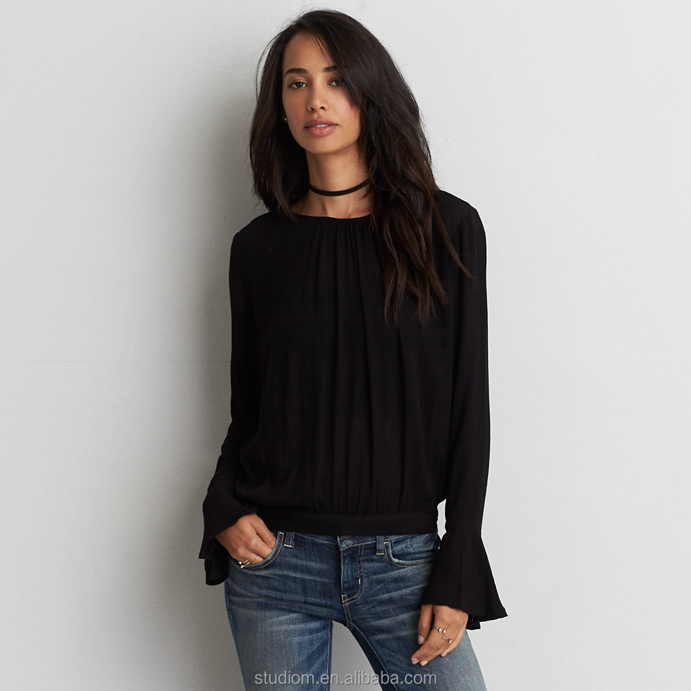Shirt design female - Wholesale 2016 Latest Blouse Design Women Long Sleeve Tops And Blouses Alibaba Com
