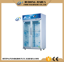 2 sliding glass door Static Cooling Meat and fish Display Chiller/Freezer /Cabinet/refrigerated glass door (LS-768GR)
