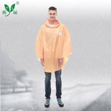 Super Quality 100% Waterproof Custom Printed Reusable Polyester Rain Poncho