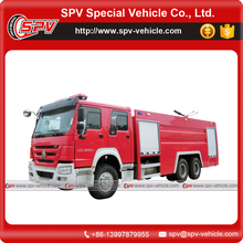 HOWO 16000 liter water foam fire trucks for sale