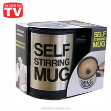 factory print logo wholesale custom made self stirring coffee mug thermal <strong>cup</strong>