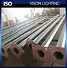 hot rolled black steel lighting poles