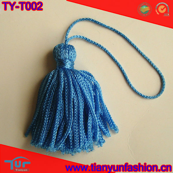Blue Red Rayon Chainette Key Tassel Fringe for Decoration
