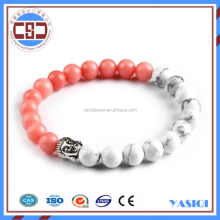Wholesale supplier howlite jewelry buddha stretch beaded bracelet