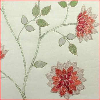 Gorgeous Luxury Non-woven Embroidery Wallpaper