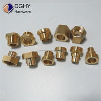 factory custom cnc turning threaded brass tube