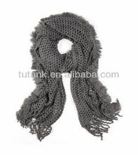 Solid Tulle Knitted Shawl Scarf