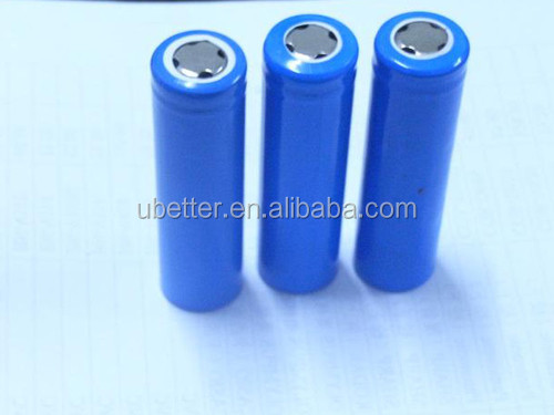 Manufacture directly selling 18650 li ion battery rechargeable 3.7v cylinder lithium ion battery cells