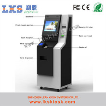 Lcd Payment Kiosk atm cash machine With Card Reader