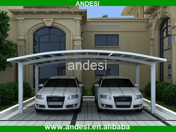 Modern Double Curved Car Parking Canopy Designs