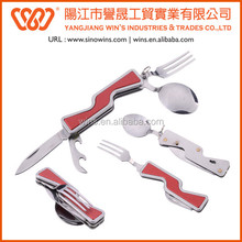 Stainless steel Camping Knife with Gun Sharp Handle