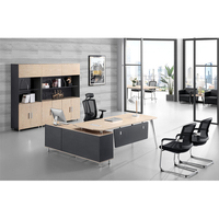 China Supplier Contemporary Boss CEO Manager L Shaped Executive Office Desk Modern Office Furniture Desk