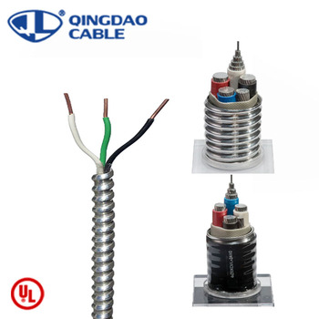 MC cable metal clad cable 600volts copper conducto aluminum armored/armoured bx cable