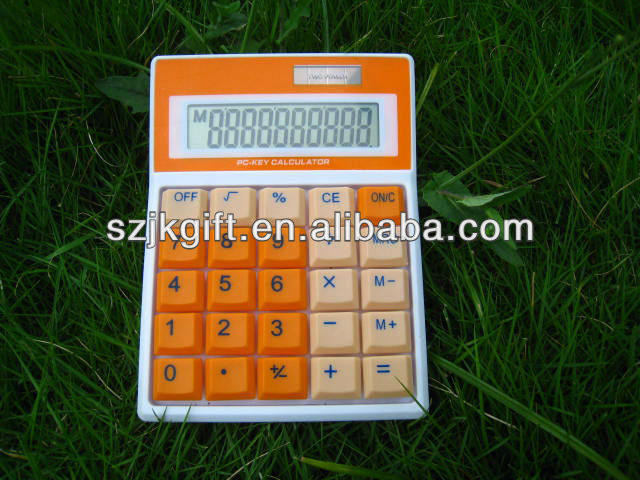 MANUFACTURER colorful button office dual power desk calculator for promotion gifts