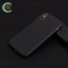 2018 new arrival smartphone case for iPhone case x cover matte Soft TPU frosted Skin Back phone shell black