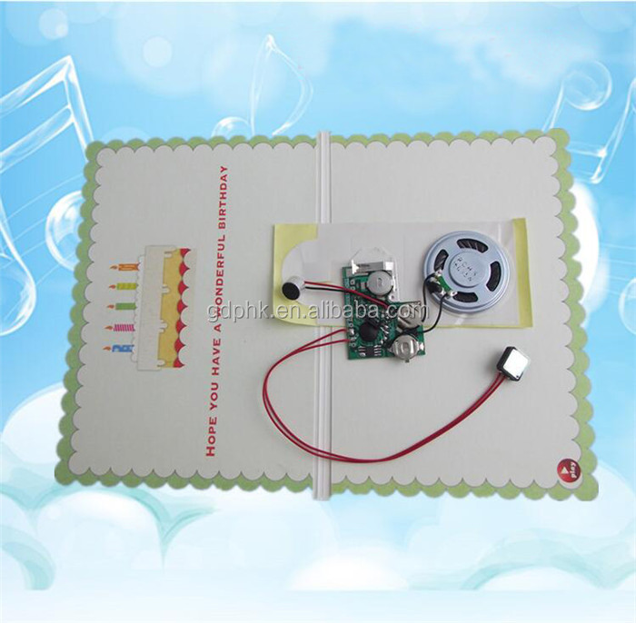 Funny musical sound chip for card voice recording music chips for toys and greeting cards