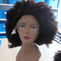 short afro kinky lace human hair wigs for women