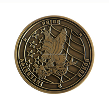 customized military souvenir simple brass challenge coins