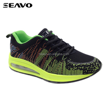 SEAVO SS18 new model light weight green outsole hot air sport shoes for men