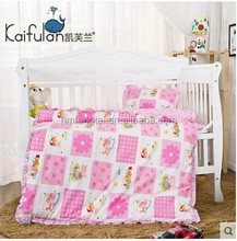 Korean kindergarten 100% cotton quilt 3 pieces bedding sets