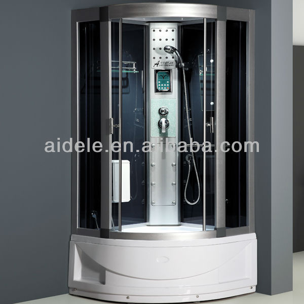 simple corner shower room with abs shower tray made in china
