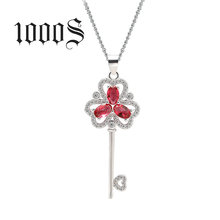 Red Zircon Stones Silver Pendant, 925 Sterling Silver Jewelry Wholesale