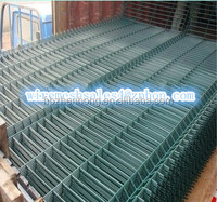 RAL6005 color PVC Coated Curved Fence Panel with high quality