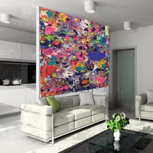 Newest 2015 Original Oil Painting On Canvas For Wall Decoration Handmade Big Size Abstract Oil Painting