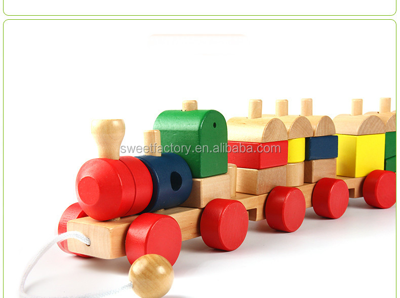 wooden train assembly car toy