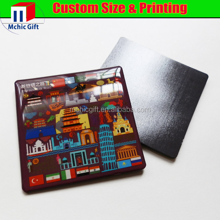 Customised souvenir clear resin epoxy magnet / epoxy fridge magnet
