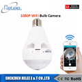 Bulb Light Wireless IP Camera Indoor FishEye 960P 360 degree1.3MP Mini CCTV Home Security WiFi Camera