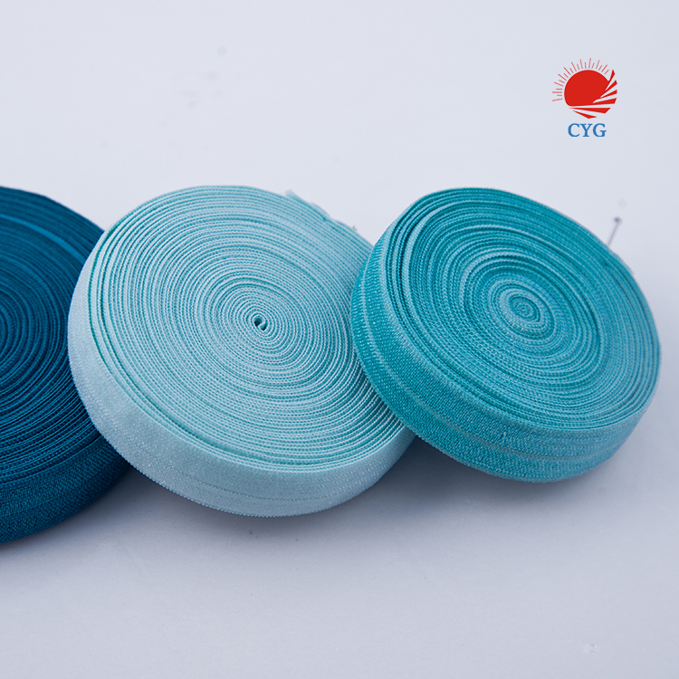 Transparent Elastic Bands Customized Colored Fold Over Elastic
